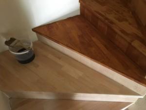 lépcső pácolás